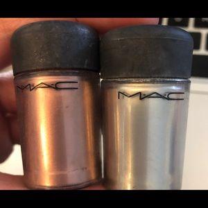 Mac cosmetics- pigments copper and platinum
